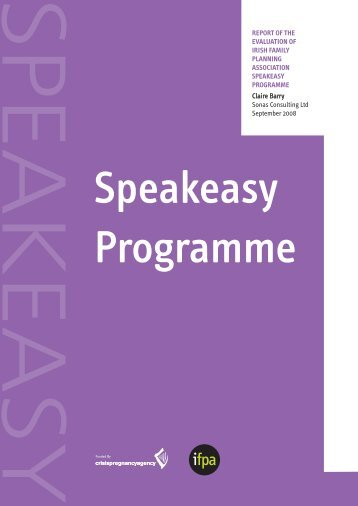 Speakeasy Evaluation Report - Irish Family Planning Association