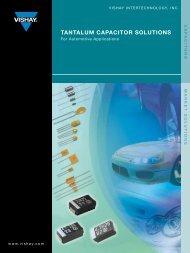 TAnTALUm cApAciTor soLUTions - Vishay