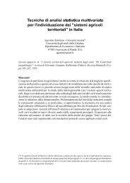 Tecniche di analisi statistica multivariata per l - Dipartimento di ...