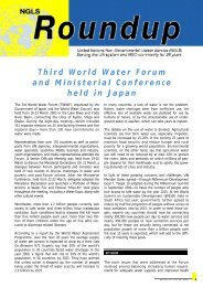 Third World Water Forum and Ministerial Conference held in ... - NGLS
