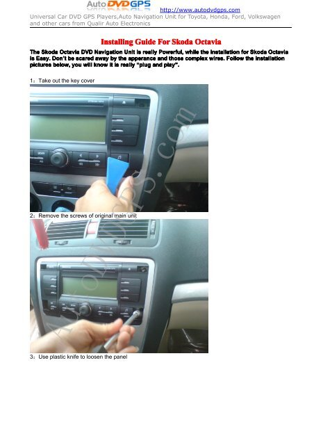 Skoda octavia dvd gps navigation unit installation     - Car