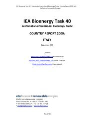 Italian country report - IEA Bioenergy Task 40
