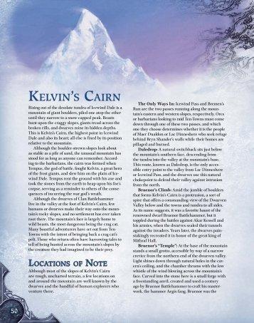 KELVIN'S CAIRN