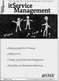 Referenzmodelle für IT-Prozesse - Lehrstuhl für Wirtschaftsinformatik