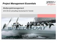 Project Management Essentials - speed4projects