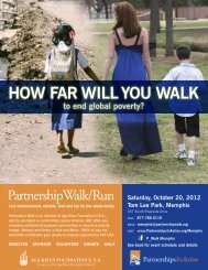 hOW fAR WILL yOU WALK - PartnershipsInAction