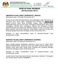 24 November 2011 - Jabatan Meteorologi Malaysia