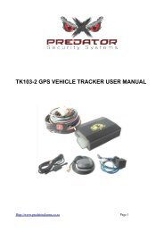 GSM/GPRS/GPS Vehicle Tracker TK-107 USER MANUAL
