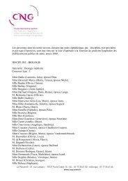 Liste d aptitude 2009 - Département d'information médicale