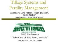 Tillage Systems and Fertility Management - IFAO