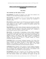draft au declaration on elections, democracy and governance