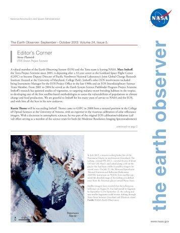 The Earth Observer. September - October 2012. Volume 24, Issue 5