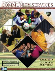 Community Services Quarterly Brochure - City Of Beverly Hills
