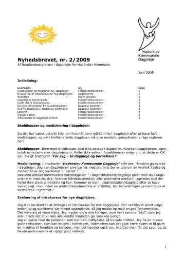Nyhedsbrevet, nr. 2/2009 - Haderslev Kommunale Dagpleje