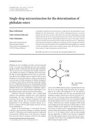 Single-drop microextraction for the determination of phthalate esters