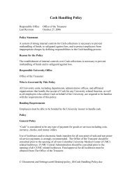 Cash Handling Policy - Columbia University Administrative Policy ...