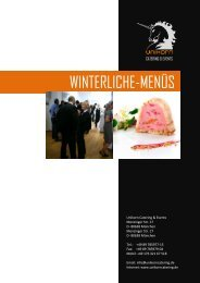 WINTERLICHE-MENÜS - Unikorn Catering