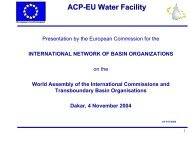 ACP-EU Water Facility - INBO