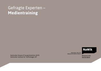 Gefragte Experten – Medientraining - Nationales Institut für ...