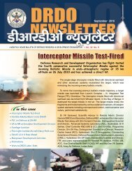 Vol. 30, Issue 09, September 2010 - DRDO