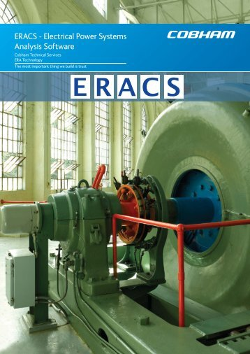 ERACS - Electrical Power Systems Analysis Software