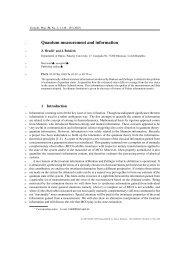 Quantum measurement and information