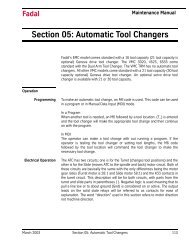 Section 05: Automatic Tool Changers - FadalCNC.com