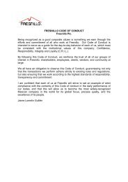 FRESNILLO CODE OF CONDUCT Fresnillo Plc. Being recognized ...