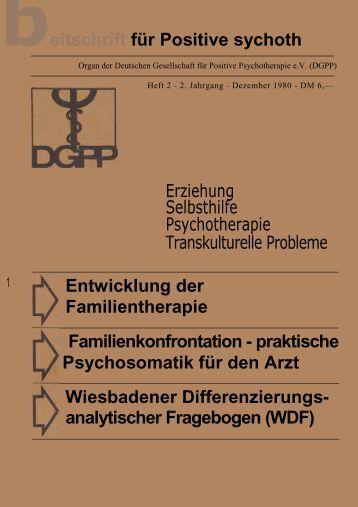 Heft 2 komplett - Positive und Transkulturelle Psychotherapie