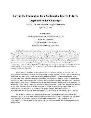 Conference Agenda - George Washington University Law School