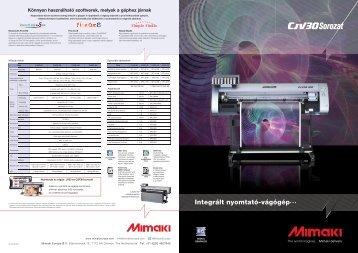 Mimaki CJV30 Sorozat adatlap