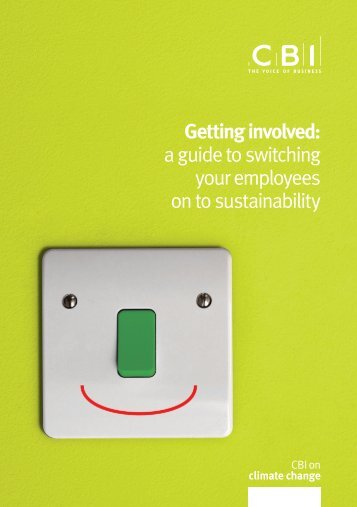 a guide to switching your employees on to sustainability - CBI