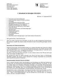 schulbrief 1 - Bertolt Brecht Gymnasium - Referat für Bildung und Sport