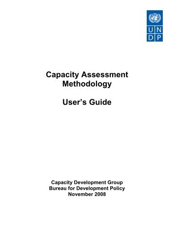 UNDP Capacity Assessment Users Guide.pdf - Africa Adaptation ...