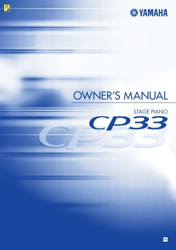 CP33 Owner's Manual - Yamaha Downloads