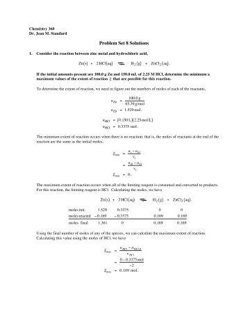 Problem Set 8 Solutions
