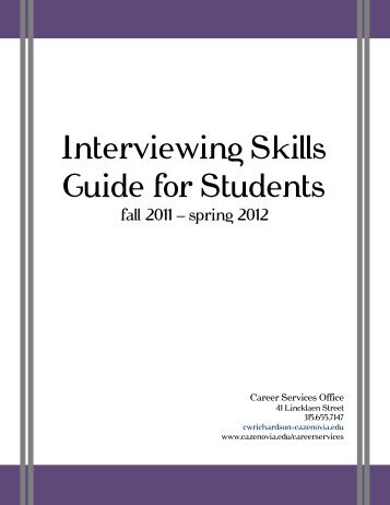 Interviewing Skills Guide for Students - Cazenovia College