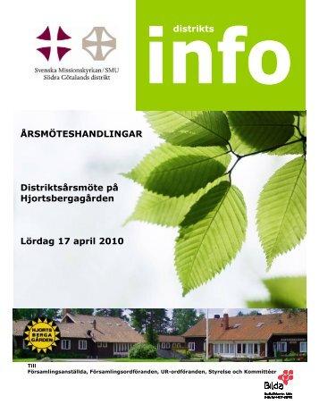 årsmöteshandlingar 2010 - Svenska Missionskyrkan SMU i Södra ...