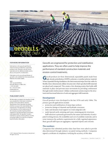 Geosynthetics Specifier's Guide 2011 - Specialty Fabrics Review