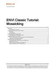 ENVI Classic Mosaicking - Exelis VIS