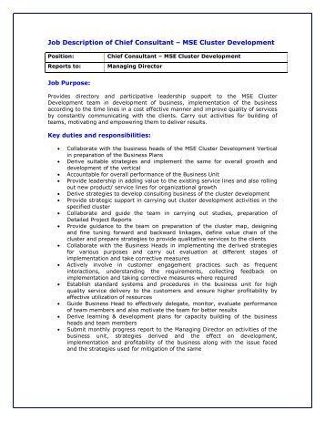 development director job description