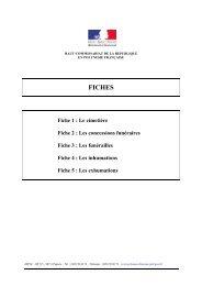 Fiche 1 - Haut-Commissariat de la république en Polynésie française