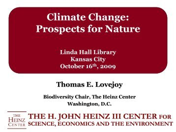 Climate Change: Prospects for Nature - Linda Hall Library