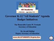 Presentation of Legislation and Budget Proposals Related to K-12 ...