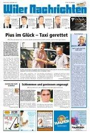 Pius im Glück – Taxi gerettet - Ausgaben