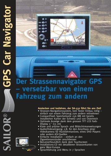 SAILO R ® GPS Car N avigator - Stilus SA