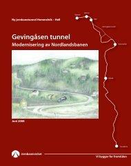 Gevingåsen tunnel Hovedbrosjyre - Jernbaneverket