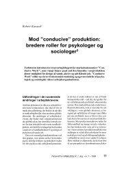 """Mod """"conducive"""" produktion: bredere roller for ... - Nyt om Arbejdsliv"""
