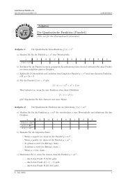 Die Quadratische Funktion (Parabel) - Mathenachhilfe.ch