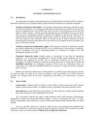 CAPITULO 5 ESTUDIO Y ANALISIS DE FALLAS 5.1. Introducción ...